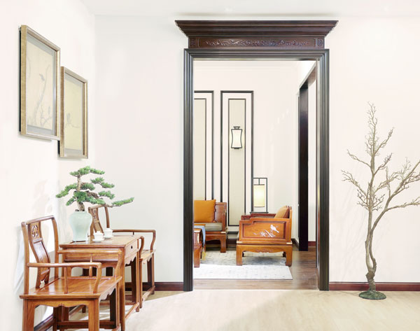 戴为红木中式家居空间,犹如苏式园林般意境高远